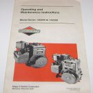 Operating and Maintenance Instructions Briggs & Stratton Series 130200 to 132200