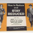 1955 KNOX GELATINE DIET BOOKLET HOW TO STAY REDUCED