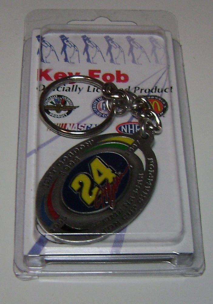 Nascar Jeff Gordon NO 24 Key Chain 3 Time Winston Cup 1995 - 97 - 98