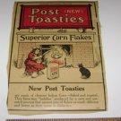 Vintage POST TOASTIES corn flakes label from original box