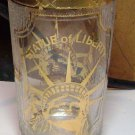 Statue of Liberty Gold Colored Trimmed Glass Souvenir