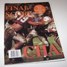 Final Score Magazine Nebraska Huskers VS Miami Hurricanes 1995 Orange Bowl