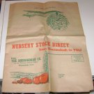 Vintage The Shenandoah Co Nursery Ad Flyer Shenandoah Iowa