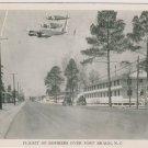 USAF WW2 Bombers Fort Bragg  Postcard PM'd 1942