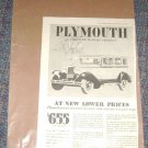 1929 Plymouth Magazine Ad