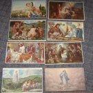 (8) Vintage Religious Calendar Art Prints 1950's