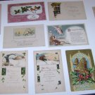 (11) Vintage Christmas Postcards early 1900's