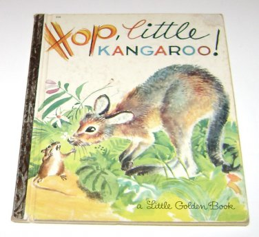 Hop, Little Kangaroo Little Golden Book 558 Patricia Scarry 1965 1st Ed