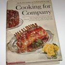Cooking for Company by the Food Editors of FARM JOURNAL 1968