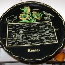 Vintage Souvenir Metal Serving Tray Kansas