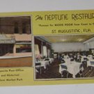Vintage Postcard The Neptune Restaurant St Augustine Florida
