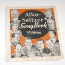 Alka-Seltzer Song Book advertising booklet 1937