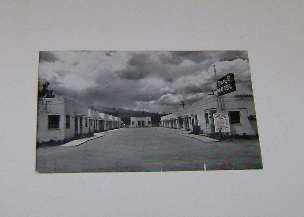 """Vintage Postcard """"Dan D Motel"""" Colorado Springs Colorado"""