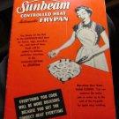 Sunbeam Controlled Heat Frypan recipe booklet 1953