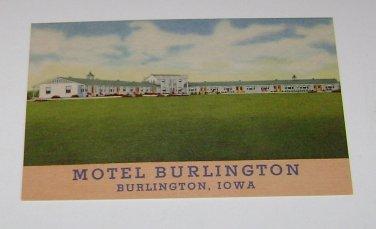 Vintage Postcard Burlington Motel Burlington Iowa