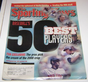Sporting News Magazine Baseball's 50 Best Players 2000