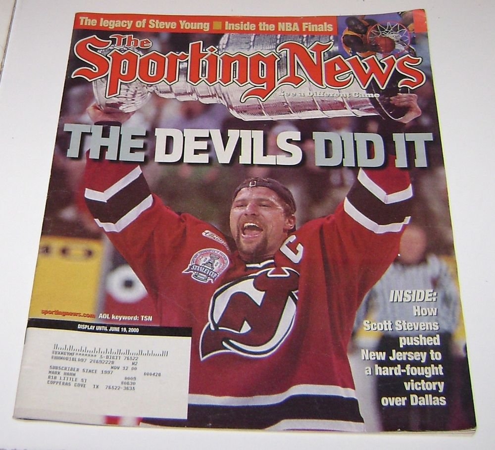 Sporting News Magazine NHL New Jersey Devils Stanley Cup june 19 2000