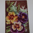 "Vintage Postcard ""Birthday Greetings"" Multi Colored Violets"