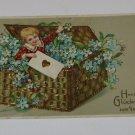"""Vintage Postcard Herzlichen Gluckwunsch """"Congratulate Boy in Box """"German"""""""