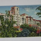 Vintage Postcard Floral Landscape Hollywood Beach Hotel Hollywood FLorida