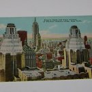 Vintage Postcard Empire State & Waldorf Astoria Twin Towers New York City
