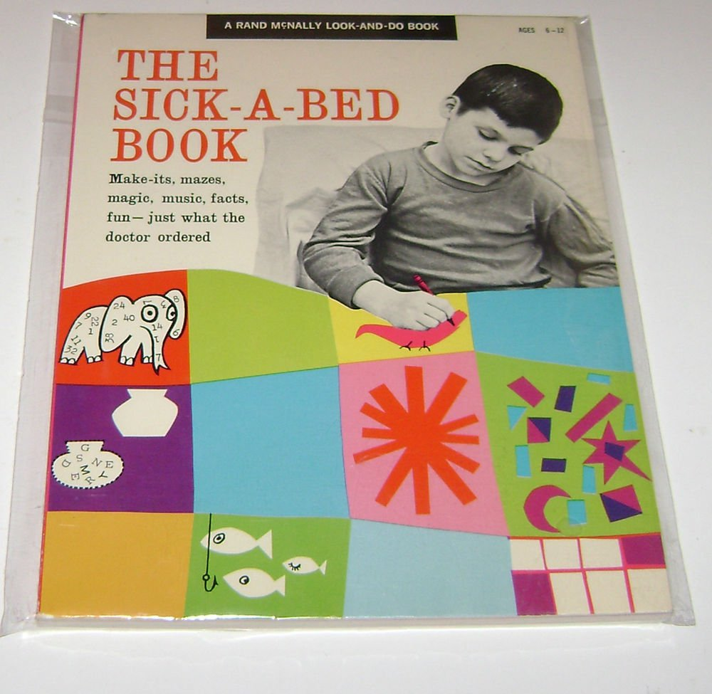 "Rand McNally look and do book ""The Sick A Bed Book"""