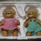Pair Homco Bears Movable Limbs
