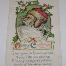 "Vintage Postcard ""A Merry Christmas"" Santa Claus w/ Mistletoe"