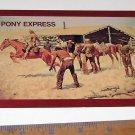 Postcard Pony Express by Frederic Remmington