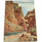 Vintage Postcard Train Bottom of the Gorge Carson City Colorado