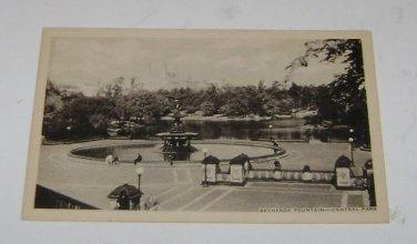 Vintage Postcard Bethesda Fountain Central Park New York