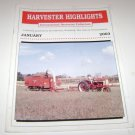Harvester Highlights Magazine International Harvester Collectors January 2003
