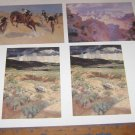 (4) Small Size Prints Anschutz Collection Denver Art Museum