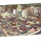 Vintage Postcard Aerial View Detroit Michigan