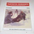 Harvester Highlights Magazine International Harvester Collectors October 2002