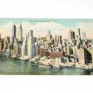 Vintage Postcard Midtown New York City Skyline 1930's