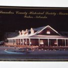 Postcard Saunders County Museum Christmas Wahoo Nebraska 1994