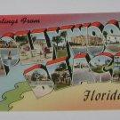 "Vintage Postcard ""Greetings"" Hollywood Beach Florida"