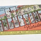 "Vintage Postcard  Greetings From St Augustine Florida ""Oldest City"""