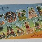 """Vintage Postcard """"GREETINGS"""" from Coral Gables Florida several pictures"""