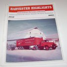 Harvester Highlights Magazine International Harvester Collectors July 2001