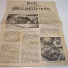 P&G Household Hints & Grocery Ad Schneider's Market Mead Nebraska 1939