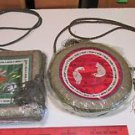 (2) Hand Embroidered Chinese Silk Bags
