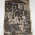 Vintage Nativity Scene postcard size