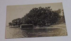 Vintage Postcard lauderdale lake wisconsin mayhews point