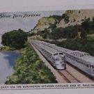 Vintage Postcard Vista Dome Twin Zephyrs