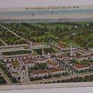 Vintage Postcard University of Detroit Postmarked 1931