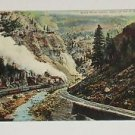 VNTG Postcard Eagle River Canon Colo on the D&R G.  Railroad