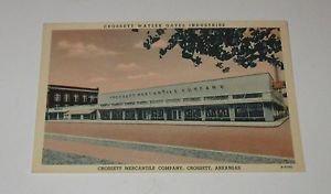 Vintage Postcard Crossett Mercantile Co Crossett Arkansas