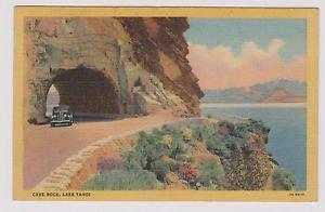 Vintage Postcard Cave Rock Lake Tahoi Nevada Postmarked 1952
